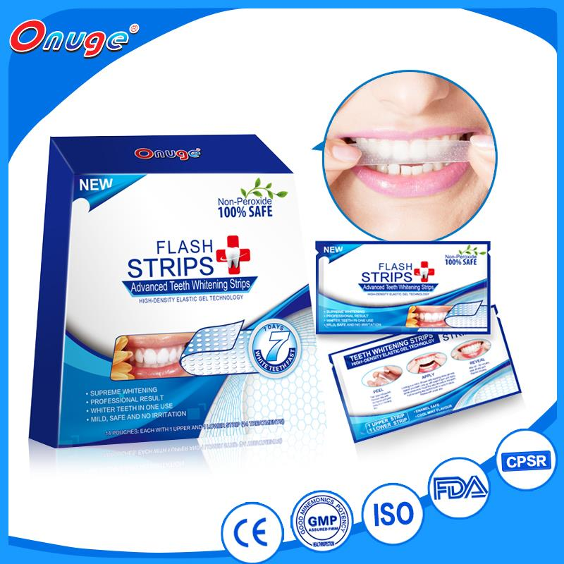 Popular in Europe- Onuge Teeth Bleaching Strips With New Formula Quality