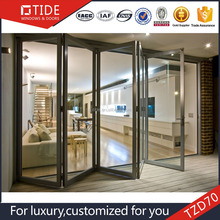 Guangxi Tide double glazed doors and windows aluminum folding doors