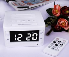 K7 Wireless FM radio BT speaker alarm clock MP3 player with USB charging AUX input