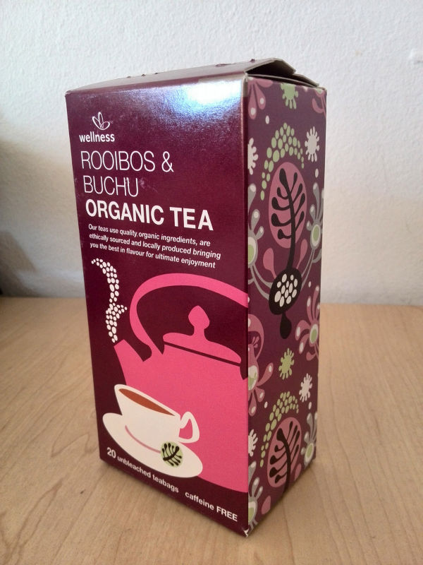 Private label organic Rooibos and buchu tea bags 20's