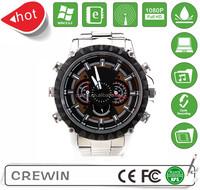 Super mini 1080P full hd mini digital watch camera with metal belt support 32gb