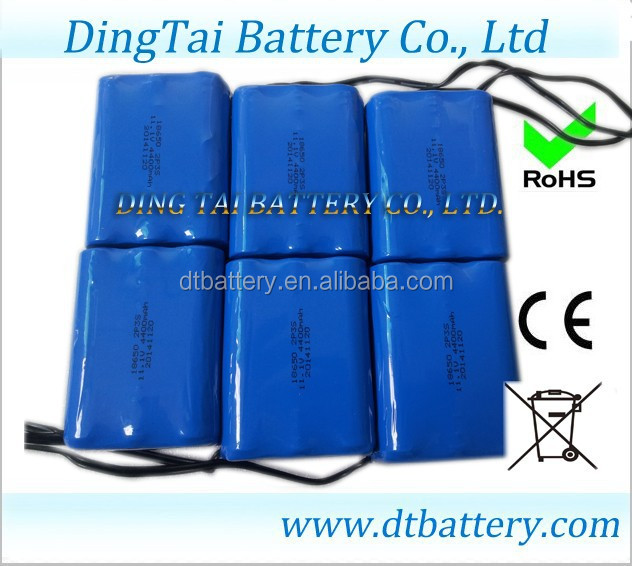 High quality Li-ion18650 Rechargeable Customized Battery Pack 7.4V 9000mAh