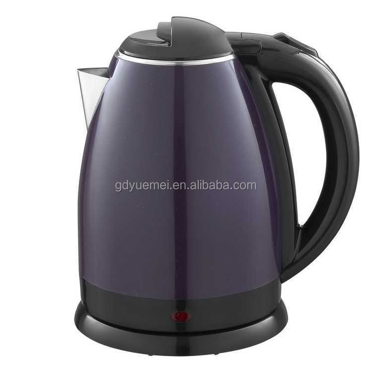 1.8L colorful plastic and stainless steel double wall electric kettle