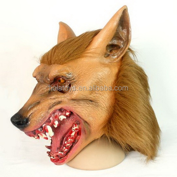 Hola wolf mask halloween costume for adult