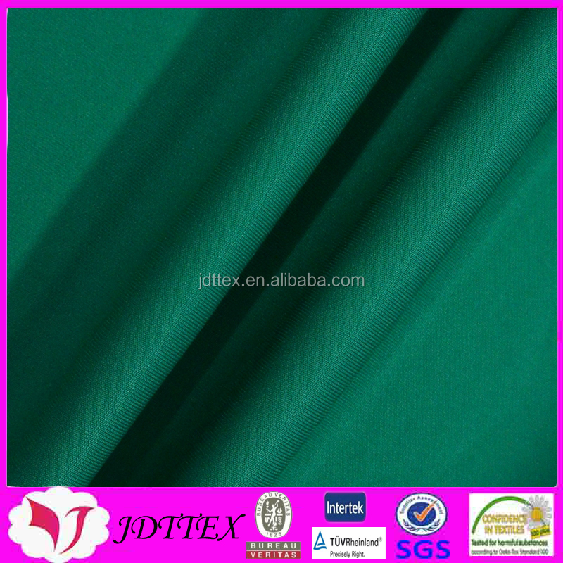100 polyester green color weft quick dry fabric for pants