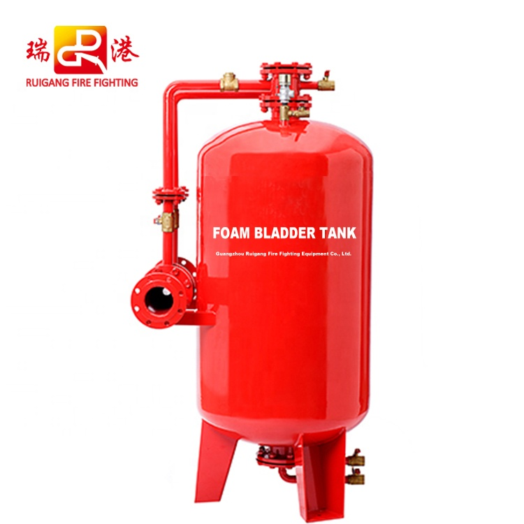 factory price proportioning foam bladder tank for oil fire, vertical design and horizontal design, 1~18 cbm capacity
