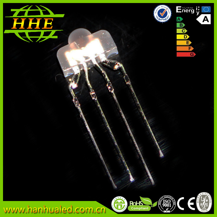 Nipple 2*3*8mm led diode RGB led components in Common Anode with 2.54mm leg distance