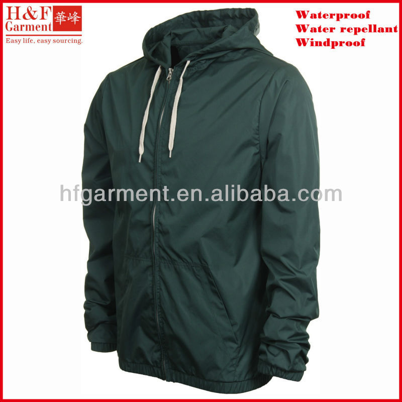 Plain track jacket custom made clothing for windbreaker or sports