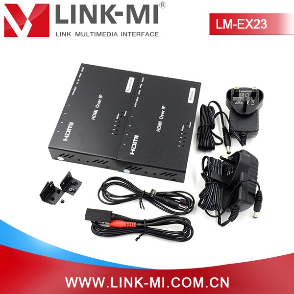 LINK-MI Black Metal LM-EX23 HDMI Extender Over IP 120m Dimension L145*W85*H28mm