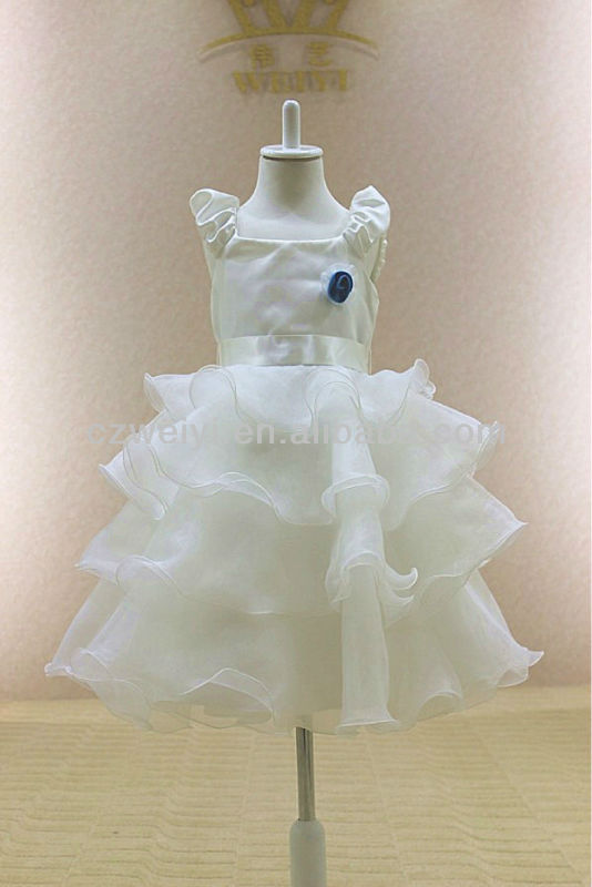 FG0024 Organza layered latest dress designs for kids