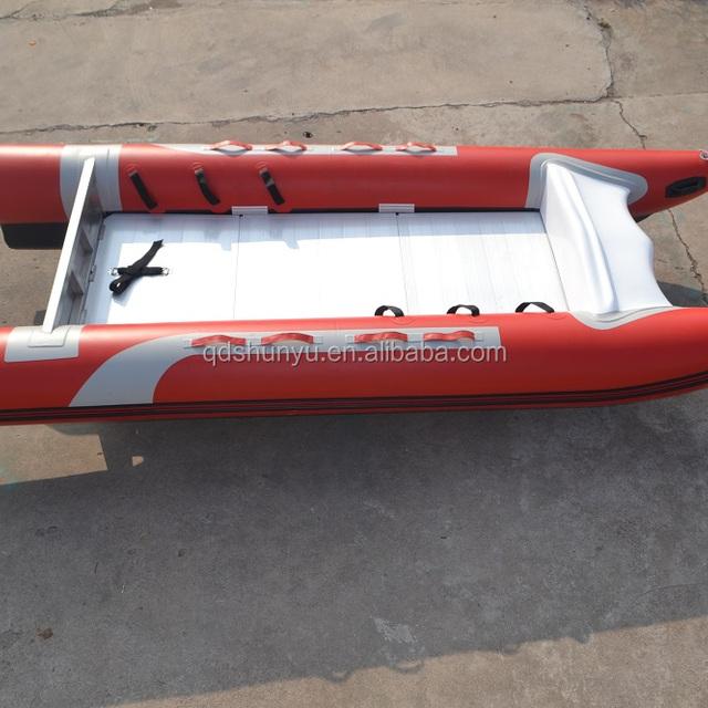 CE certificate 1.8mm korea pvc or hypalon 4.8m sailing inflatable catamaran for sale