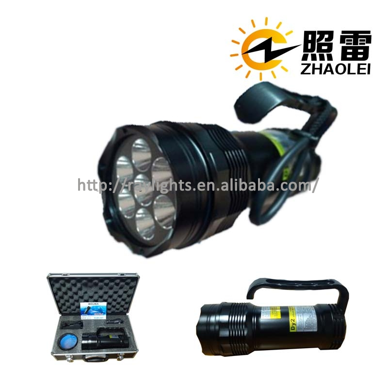 Waterproof 100m Raylights XM-L <strong>U2</strong> LED Diving <strong>flashlight</strong>