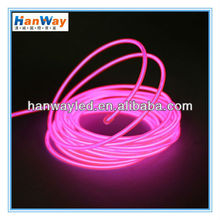 High bright!LED Flexible Round Neon Rope Light Glow EL Wire with low price