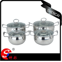 4pcs High Quality New Design Stainless Steel Bright Pearl Cookware Set/Cooking Pot