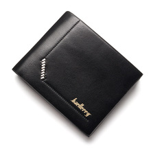 PU Leather Wallet Baellerry Luxury Leather Business Purse Money And Caed Clip Bag Wrist Wallet