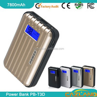 kabo 2600mah mini perfume power bank with digital LCD display and dual output