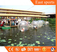 Hot sale PVC/TPU water bouncing ball, inflatable water ball pvc tape for adults