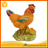 Personalized resin ornaments for home hen and chicken Statue home decoration pieces