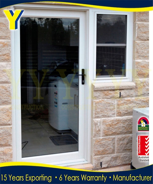 Alu.Door _Entry Door With Window That Opens With Commercial Profile and Powder coated with 10 years Warranty