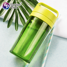 2017 new products green 430ml AS tea bottle with handle