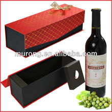 Red single wine bottle paper gift box