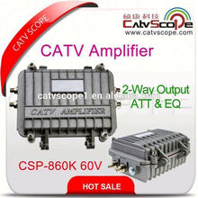 CATV Fiber Optic Trunk Amplifier with 2 Way Output 60v / 2 way output catv trunk optical amplifier CSP-860K60V/220V