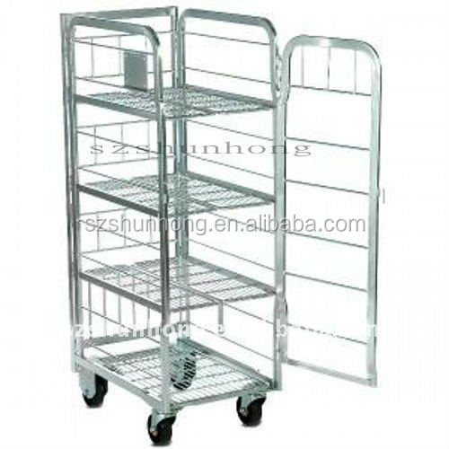 high quality steel milk warehouse trolley/cart