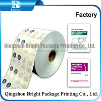 laminated aluminium foil packaging paper for alcohol swab packaging