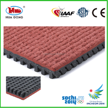 Rubber running track surface outdoor sports flooring
