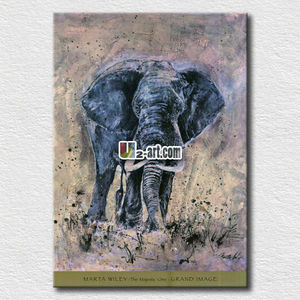 Animal images of elephant pictures painted with oil