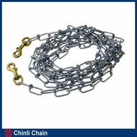 Tie Out Dog Chain,Snap Hook On Both End,Zinc plated Dog Chain