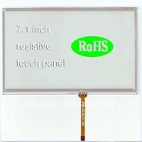 4-wire 7.1 inch LCD resistive touch screen with High bright Vehicle-mounted computer touch