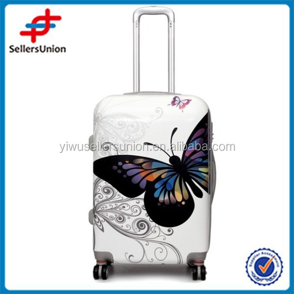 HOT SALE CHEAP PS LUGGAGE 3 PCS PER SET BUTTERFLY DESIGN