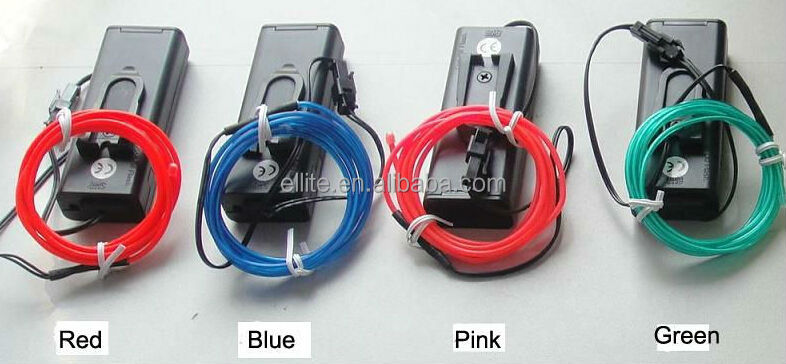 neon rope light warranty 1 year 2.3mm/3.2mm/5mm el wire cable