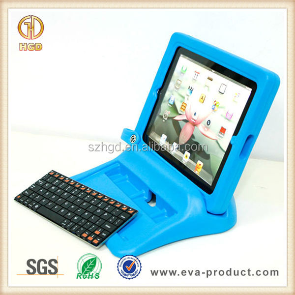 blue big grip foam frame and stand design bluetooth keyboard with case for ipad