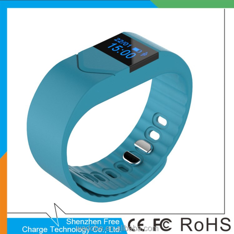 2017 New private mould smart bracelet bluetooth wirstband pedometer smart fitness band