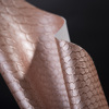 Embossed Snake Skin Synthetic Leather For