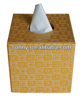 2014 Wholesale Top Fashion Colorful PU Tissue Box Household Sundries