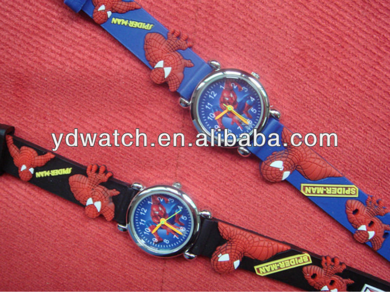 Cheap wholesale spiderman silicone kid gift wrist watch