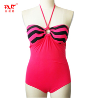Bandeau Bikini Mayo Tanga Young Little Modele Open Girl Just Arrivals Popular One Piece Beach Wear Wave stripe Swimsuits