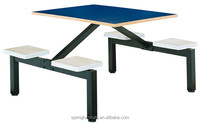 durable fast food restaurant table and chair tough school cateen table fiber glass canteen table