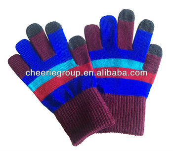 Finger touch Glove with logo printing