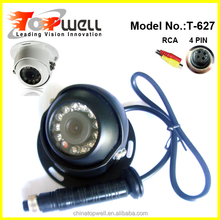 6 inch wide view angle 4 video input waterproof reverse side view camera for bus or truck