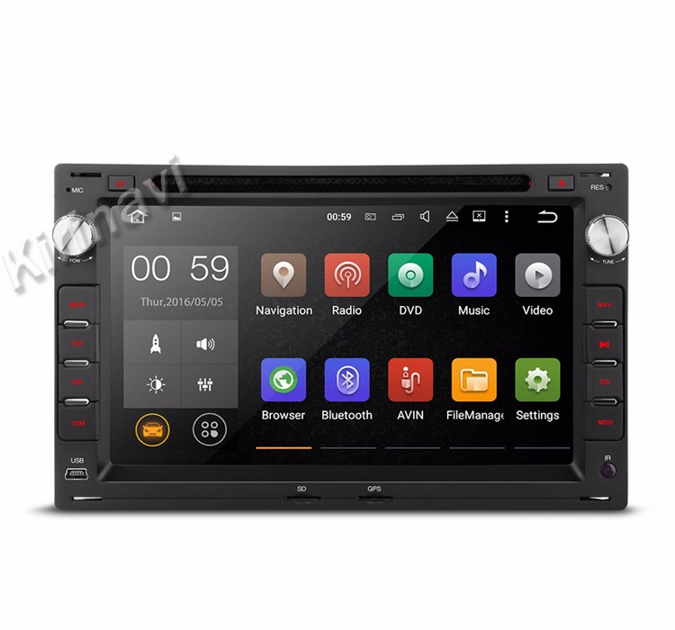 Kirinavi WC-VU7009 android 5.1 car dvd player for peugeot 307 1996-2008 double din car radio wifi 3g playstore
