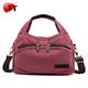 ECO Friendly Fashion linen Shoulder Bag Purple Messenger Bag
