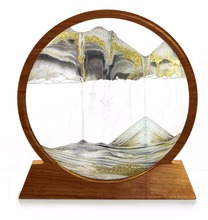 3D round moving Sand Art Pictures for desktop home office decoration nice gift crafts