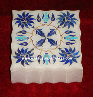 Expensive Marble Inlay Jewelry/Trinket/ Safe/Pill/ Bangle Boxes