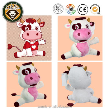Lovely Cow Plush Toys Stuffed Animals Doll milk milchigs company mascot logo promotion gift