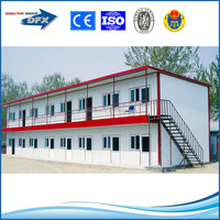 2 storey flat prefabricated houses for dormitory