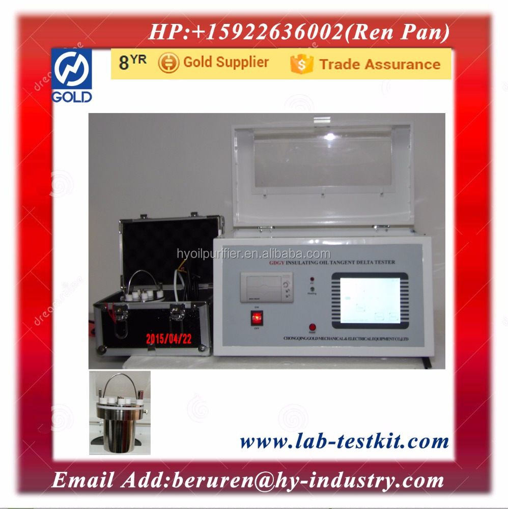 Insulation <strong>Oil</strong> Dielectric Loss Test/Tan Delta Test/Dissipation Factor Tester